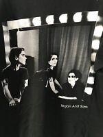Tegan And Sara photograph Concert merch T-shirt Size Large black older