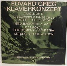 "Grieg CONCERTO pianoforte norvegese balli Gina Bachauer GEORGE WELDON 12"" LP (e524)"