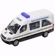 1:43 Mercedes-Benz Van Polis Police Diraja Malaysia PDRM 119 Diecast White Car
