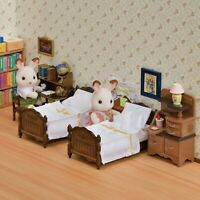Sylvanian Families Calico Critters Classic Brown Bed and Chest Set