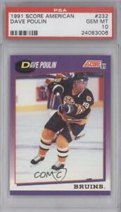 1991-92 Score American Dave Poulin #232 PSA 10