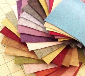 "23 - 12""X12""  Heathered Sheets Merino Wool blend Felt"