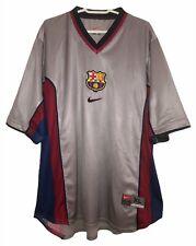FC BARCELONA AWAY SHIRT NIKE 1998-2001 (GOOD) XL VINTAGE FOOTBALL CAMISETA BARÇA