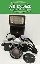 1979-1986 Pentax ME Super Electronic SLR camera With 50mm Lens/Flash Vintage!