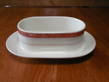 Villeroy & Boch BEAULIEU Gravy with attached Underplate Salmon Marble Band 1 ea