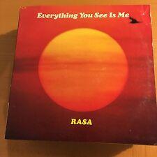 Rasa-Everything You See Is Me-LP-Lyric Sheet-Govinda-Vinyl Record