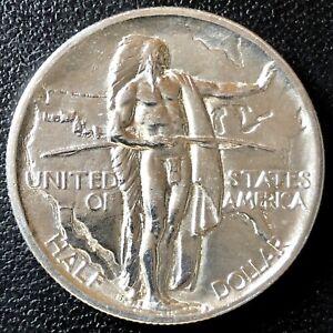 USA 1936 S Half Dollar Gedenkmünze Oregon Trail Memorial Silber SELTEN #16828