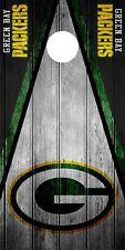 Simple Green Bay Packers Cornhole Envoltura de la piel calcomanía vinilo NFL tablero de juego con el logotipo de DT52