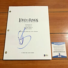 ORLANDO BLOOM SIGNED LORD OF THE RINGS THE RETURN OF THE RING SCRIPT BECKETT COA