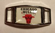 Set of 2 CHICAGO BULLS Shoelace Charms For Paracord Projects NEW
