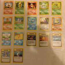 Pokemon Cards - 17 Base Set German 1st Edition Cards - Commons/Uncommons