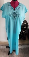 Moroccan Kaftan   Green Ocean ONE SIZE BEACH House Summer Dress