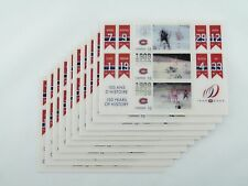 2009 Mint Montreal Canadiens Holographic Canada Stamp Stamps Sheet 10-Pack 3X$3
