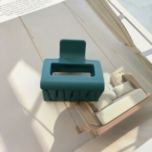 Geometric Hair Clip Rectangle Acrylic Resin Hair Claw Clamp Candy Color Hairpins