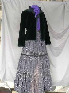 Victorian Dress Edwardian Costume Civil War Style Reenactment 3 Piece Outfi