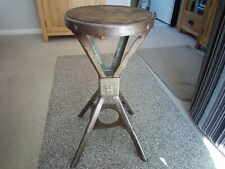 More details for 1950's steel industrial factory/machinists stool please note collection only !!.