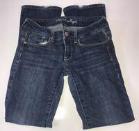 American Eagle Dark Wash Low Rise Skinny Kick Size 2 Short Jeans actual 28x29
