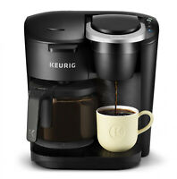 K-Duo Coffee Maker Black with Single Serve K-Cup Pod and 12 Cup Carafe Brewer