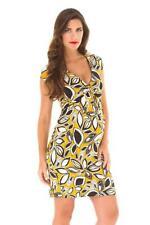 Olian Yellow V-Neck Maternity Dress