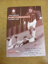 19/11/1997 Porthmadog v Bangor City [League Of Wales Cup] (Excellent Condition)