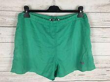 Men's Fila Retro Shorts De Baño-Talla XL W38-Verde-Excelente Estado