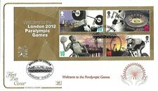 GB 2012 WELCOME TO PARALYMPIC GAMES MINI SHEET COTSWOLD FDC