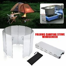 10 Plates Folding Outdoor Stove Windscreen Aluminum For Barbecue Stove Head