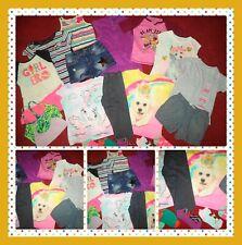 HUGE LOT~GIRLS CLOTHES DENIM SHORTS TOPS CAPRIS DRESS OUTFITS JUSTICE SIZE 7/8