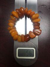 Old Baltic Amber Big Beads Bracelet 56g For Men (22 piece)