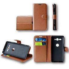 pour Xiaomi Redmi Note 5 portefeuille de poche Premium Marron