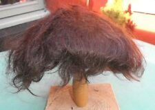 "doll wig mohair dark brown, short hair/ 12.5"" to 13.5""/Glorex/Vintage"