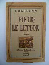 Georges Simenon - Pietr-Le-Leton - Editions CIR Collection Fayard