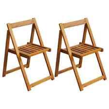 vidaXL 2x Klapstoel voor buiten Acaciahout Tuinstoel Tuin Buiten Klap Stoel