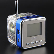 Blue TT028 Portable Mini Speaker MP3 Player FM Radio USB Disk Micro SD TF Card