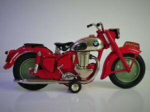 "RARE BANDAI (Japan) # 1950's Tin ""BMW R-500"" Motorcycle, friction (Red version)."