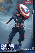 Hot toys captain america guerre civile chris evans 1:6 figure nouveau uk