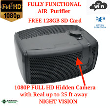 Full HD WIFI Wireless Night Vision Air Purifier Spy Hidden Nanny Camera Audio