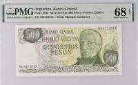 Argentina 500 Pesos ND 1976-82 P 303 c Superb Gem UNC PMG 68 EPQ Top