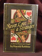 Never Love A Stranger by Harold Robbins Hardcover- Dust Jacket 1948 Debut Novel