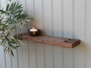 Reclaimed Grimaud Ship Plank Flat Shelf, Antique Wood Rustic Storage Display
