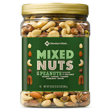 Member's Mark Roasted and Salted Mixed Nuts with Peanuts 34 OZ