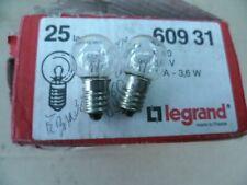 LEGRAND 060931 : 2 lampes pour bloc de sécurité d'immeuble  E10 3,6V 1A - 3,6W