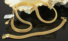 Schmuckset Schlangenkette mit Armband 750er Gold 18K vergoldet UVP:120€ S1346