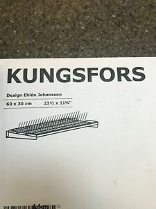 IKEA Kungsfors Stainless Steel Dish Drainer Drying Rack 403 712 25 rare and disc