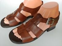 Dr. Scholls Brown Leather Strappy Sandals Women's Shoes Size 6.5