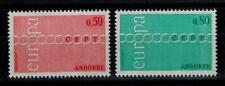 "(b2)  timbres d'Andorre Français n° 212/213 neufs** année 1971 ""europa"""