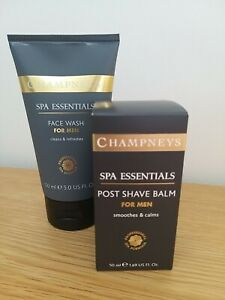 CHAMPNEYS SPA ESSENTIALS POST SHAVE BALM 50ml + FACE WASH 150ml *DISCONTINUED*
