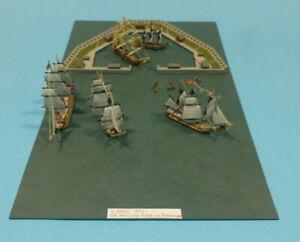Diorama /Modell 1:1200 Die Europäische Flotte vor Kopenhagen 1801 Trekroner Fort