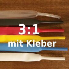 Schrumpfschlauch 3:1 mit Kleber wassserdicht, 3mm bis 50mm DM Größe/Farbe wählen