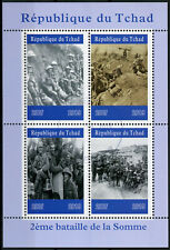 Chad 2019 CTO WWI WW1 2nd Battle of Somme 4v M/S Military War Stamps